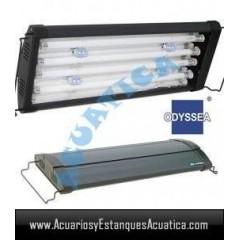 ODYSSEA T5 QUAD 90/100CM 4 X 39W + 4 LED ACUARIO MARINO
