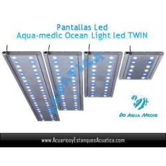 PANTALLA AQUAMEDIC OCEAN LIGHT LED TWIN 60CM 2X36W ACUARIOS