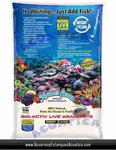 NATURES OCEAN BIO ACTIV WHITE SAND ARAGONITA VIVA 9KG