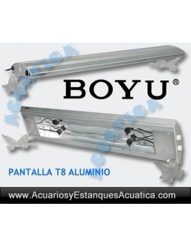 BOYU PANTALLA T8 ALUMINIO ACUARIOS