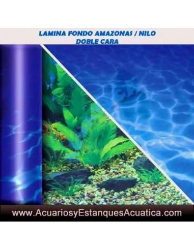 AMAZONAS / NILO LAMINA DECORATIVA DOBLE ACUARIOS