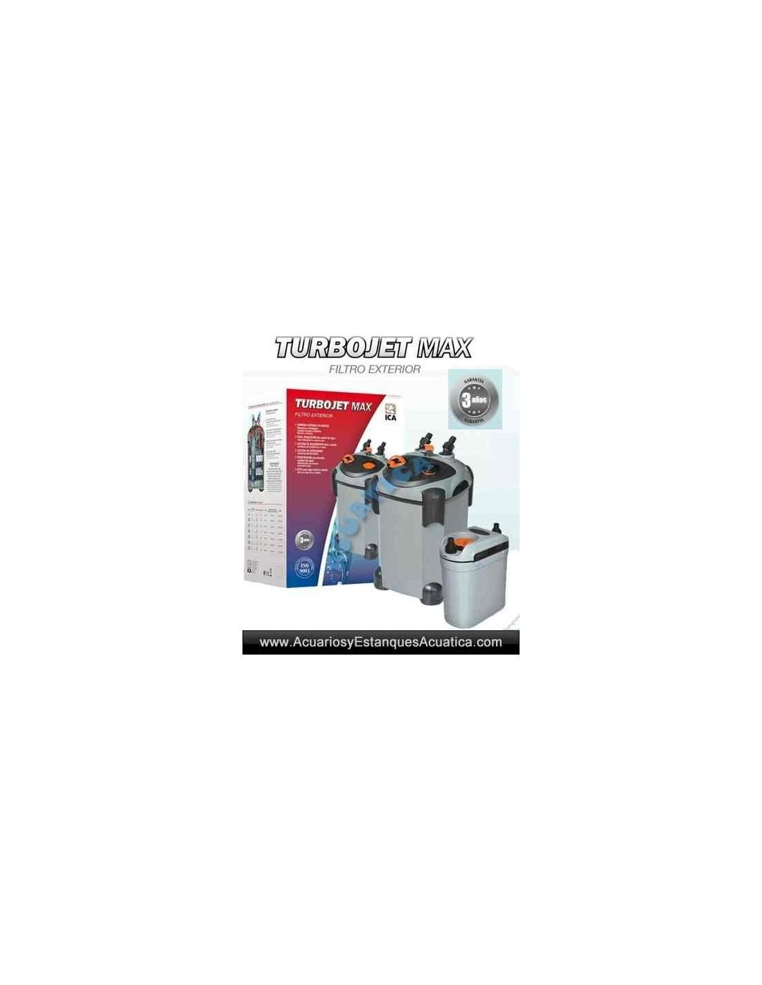 Filtro externo turbojet max acuarios acuarios y for Compro estanque de agua
