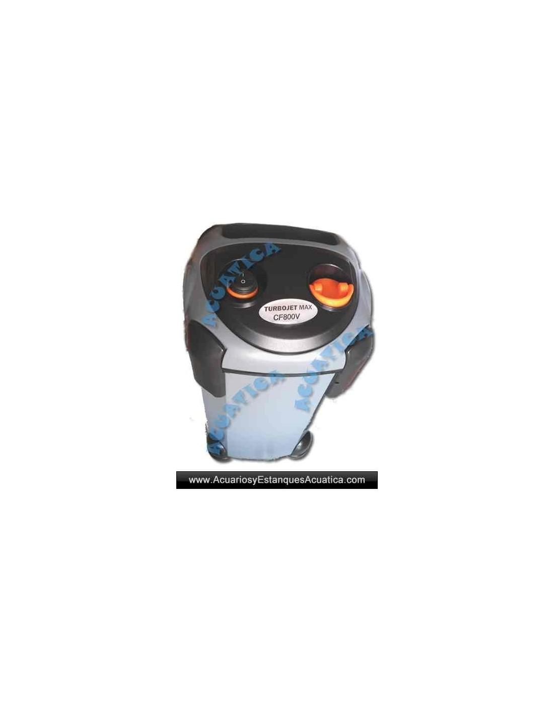 Filtro externo turbojet max acuarios acuarios y for Filtro externo para estanque