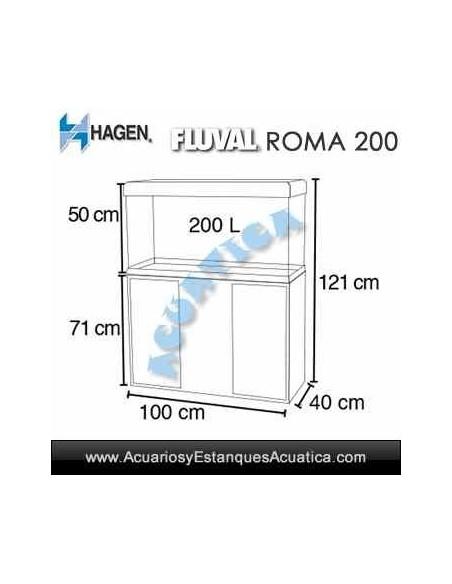 ACUARIO HAGEN FLUVAL ROMA 200 ACUARIO