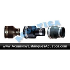 "ADAPTADOR 110mm - 63mm (4"" - 2"") FLEXIBLE"