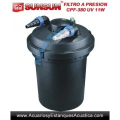 SUNSUN CPF-380 FILTRO A PRESION CON LAMPARA UV-C 11W PARA ESTANQUES
