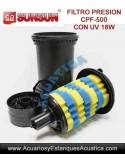SUNSUN CPF-500 FILTRO A PRESION CON LAMPARA UV-C 18W PARA ESTANQUES