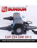 SUNSUN CUV-224 ESTERILIZADOR UV-C 24W ACUARIOS ESTANQUES