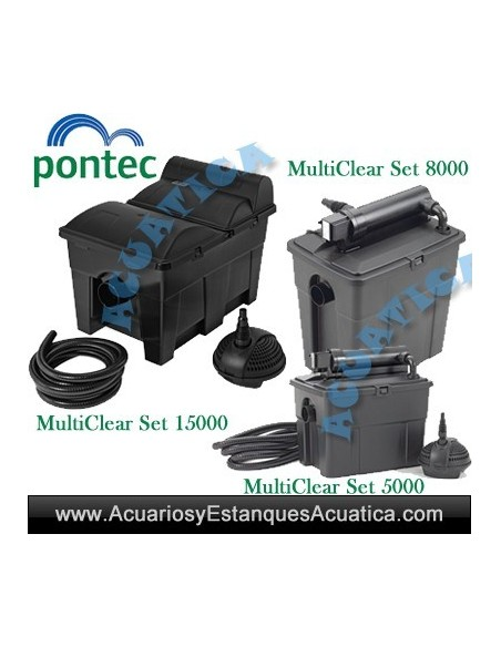 PONTEC MULTICLEAR SET FILTRACION ESTANQUES