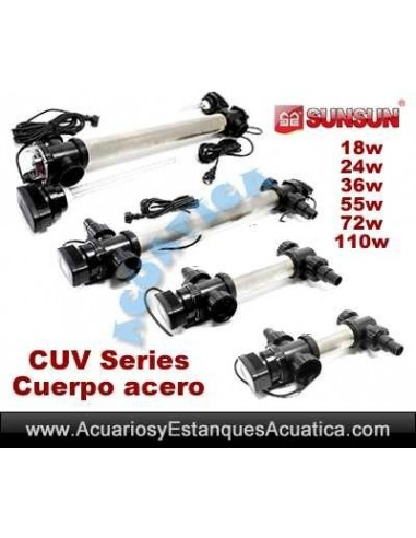 SUNSUN CUV CLARIFICADORES UV ACERO ACUARIOS ESTANQUES