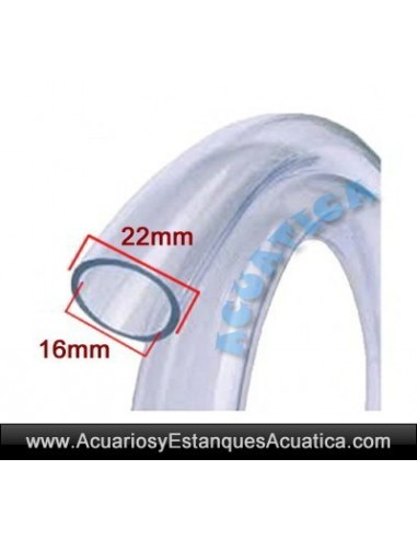 MANGUERA TUBO PVC FILTROS GRIS TRANSPARENTE