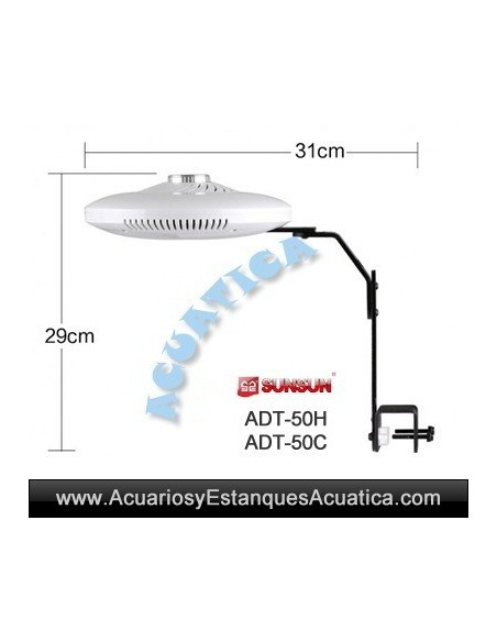 SUNSUN UFO ADT-50H LED 48W PANTALLA LED ACUARIO MARINO