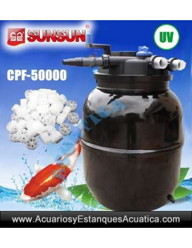 SUNSUN CPF-50000 FILTRO PRESION ESTANQUES