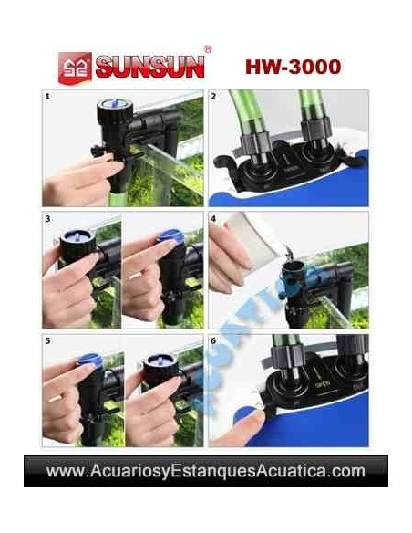 SUNSUN HW-3000 + UV FILTRO ACUARIOS EXTERNO