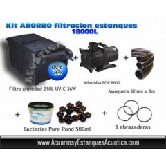 OFERTA KIT FILTRACION CAJA ESTANQUES 18,000L