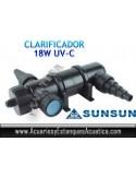SUNSUN CUV-118 ESTERILIZADOR UV-C 18W ACUARIOS ESTANQUES